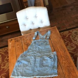 Old Navy Vintage Overall mini dress Size L